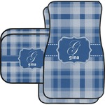 Plaid Car Floor Mats (Personalized)