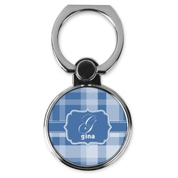 Plaid Cell Phone Ring Stand & Holder (Personalized)