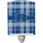 Plaid Ceramic Night Light (Personalized)