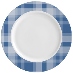 Plaid Ceramic Dinner Plates (Set of 4) (Personalized)