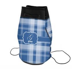 Plaid Neoprene Drawstring Backpack (Personalized)