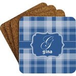 Plaid Coaster Set w/ Stand (Personalized)