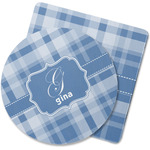 Plaid Rubber Backed Coaster (Personalized)