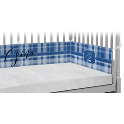 Plaid Crib Bumper Pads (Personalized)