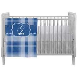 Plaid Crib Comforter / Quilt (Personalized)