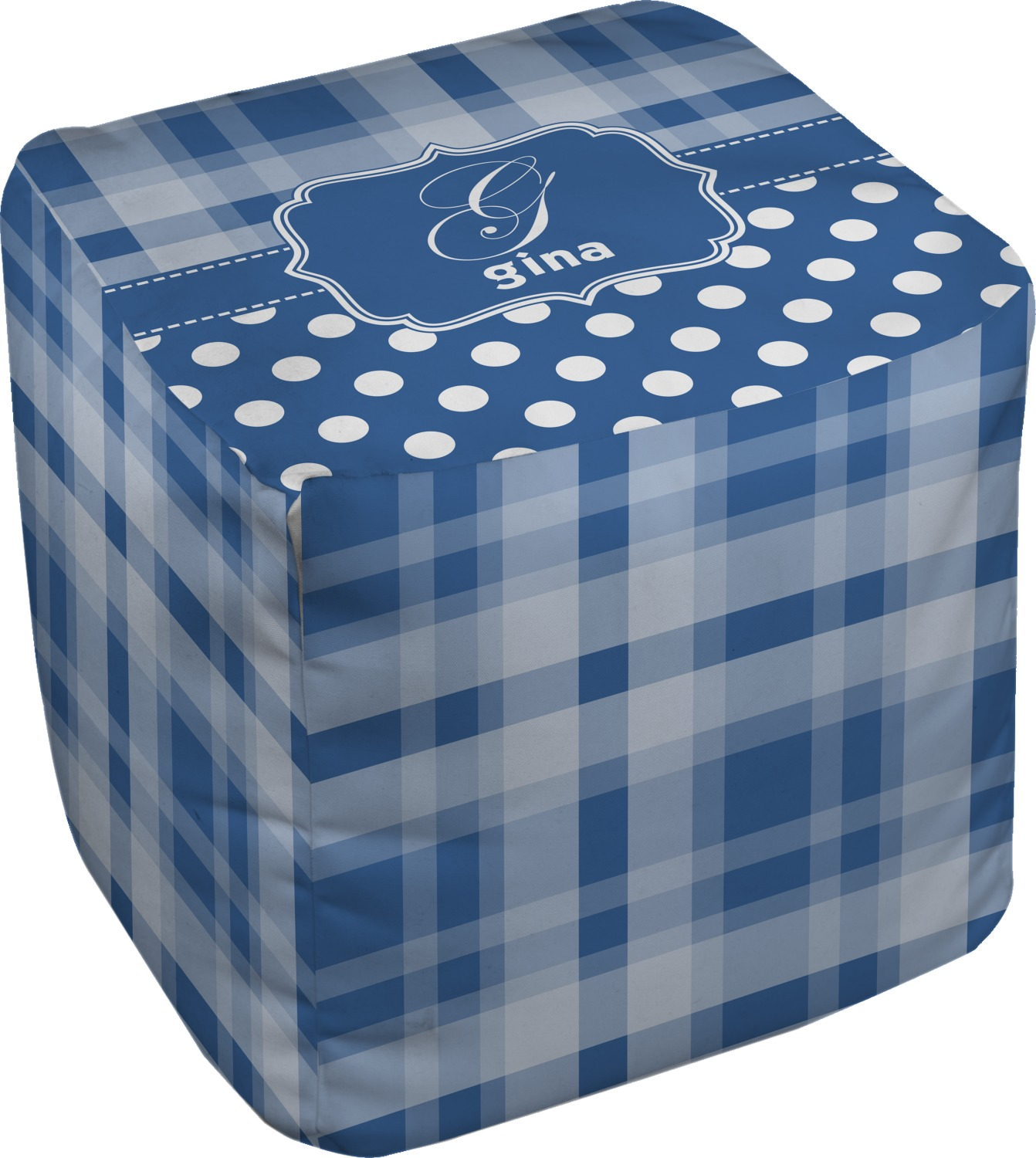 Plaid Cube Pouf Ottoman 13 Personalized Youcustomizeit
