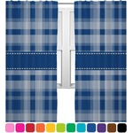 Plaid Curtains (2 Panels Per Set) (Personalized)