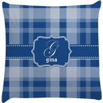 Plaid Decorative Pillow Case (Personalized)