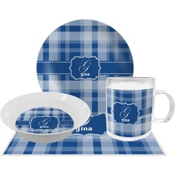 Plaid Dinner Set - 4 Pc (Personalized)