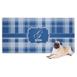 Plaid Dog Towel (Personalized)