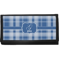 Plaid Canvas Checkbook Cover (Personalized)