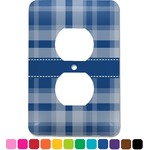 Plaid Electric Outlet Plate (Personalized)