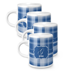 Plaid Espresso Mugs - Set of 4 (Personalized)
