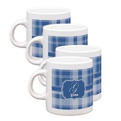 Plaid Espresso Mugs - Set of 4 (Personalized)