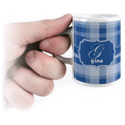 Plaid Espresso Cups (Personalized)