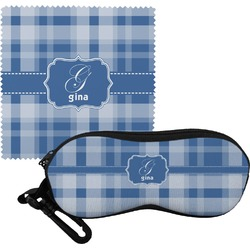 Plaid Eyeglass Case & Cloth (Personalized)