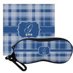 Plaid Eyeglass Case & Cloth (Personalized)