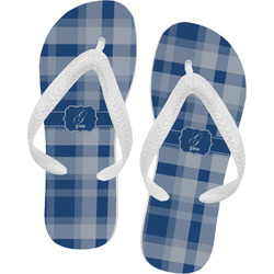 Plaid Flip Flops (Personalized)