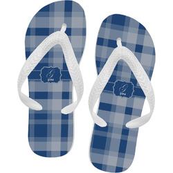 Plaid Flip Flops (Personalized)