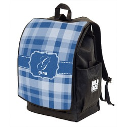 Plaid Backpack w/ Front Flap  (Personalized)