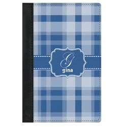 Plaid Genuine Leather Passport Cover (Personalized)