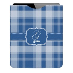 Plaid Genuine Leather iPad Sleeve (Personalized)
