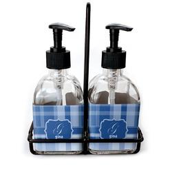 Plaid Glass Soap & Lotion Bottles (Personalized)