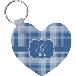 Plaid Heart Keychain (Personalized)