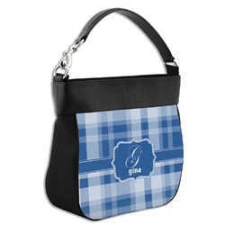 Plaid Hobo Purse w/ Genuine Leather Trim (Personalized)