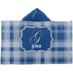 Plaid Kids Hooded Towel (Personalized)