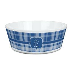 Plaid Kid's Bowl (Personalized)