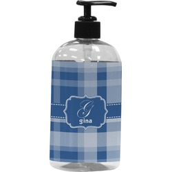 Plaid Plastic Soap / Lotion Dispenser (Personalized)