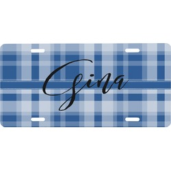 Plaid Front License Plate (Personalized)
