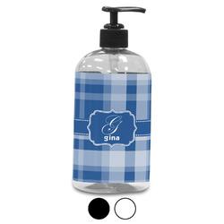 Plaid Plastic Soap / Lotion Dispenser (Personalized)