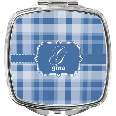 Plaid Compact Makeup Mirror (Personalized)