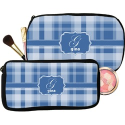 Plaid Makeup / Cosmetic Bag (Personalized)