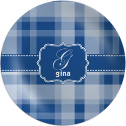 "Plaid Melamine Plate - 8"" (Personalized)"
