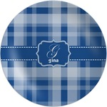 Plaid Melamine Plate (Personalized)