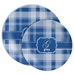 Plaid Melamine Plate (Personalized)