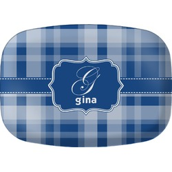 Plaid Melamine Platter (Personalized)