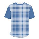 Plaid Men's Crew T-Shirt (Personalized)