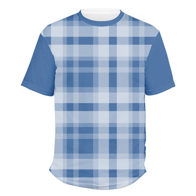 Plaid Men's Crew T-Shirt (Personalized)