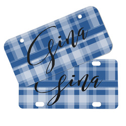 Plaid Mini/Bicycle License Plates (Personalized)