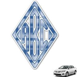 Plaid Monogram Car Decal (Personalized)