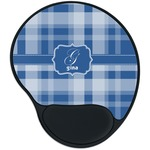 Plaid Mouse Pad with Wrist Support