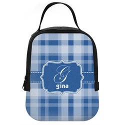Plaid Neoprene Lunch Tote (Personalized)