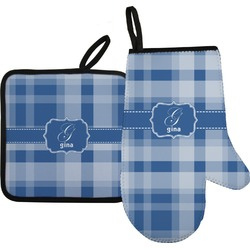 Plaid Oven Mitt & Pot Holder (Personalized)