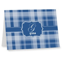 Plaid Notecards (Personalized)