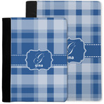 Plaid Notebook Padfolio w/ Name and Initial