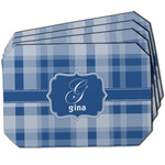 Plaid Dining Table Mat - Octagon w/ Name and Initial